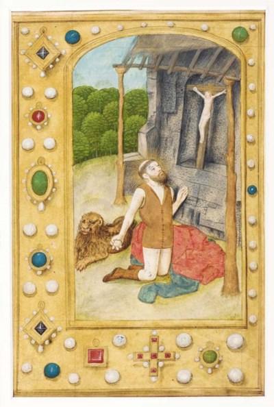 ST JEROME, full-page miniature