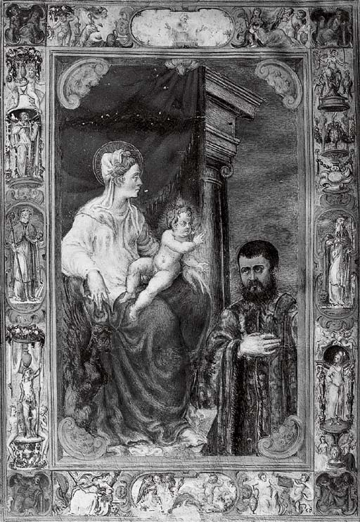 THE VIRGIN AND CHILD ADORED BY