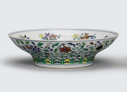 A DOUCAI OGEE BOWL
