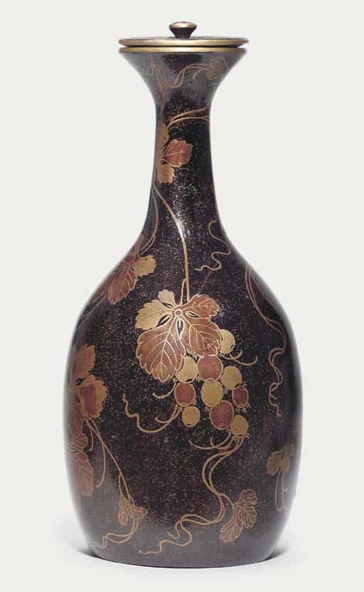 A sake bottle