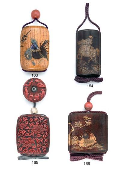 A five-case inro