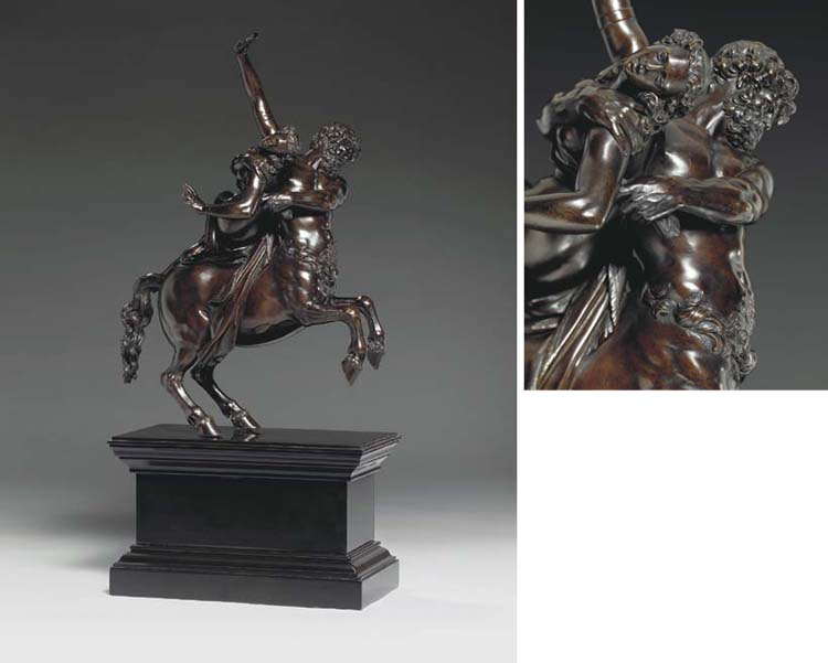 A BRONZE GROUP OF NESSUS ABDUCTING DEIANIRA | ATTRIBUTED TO