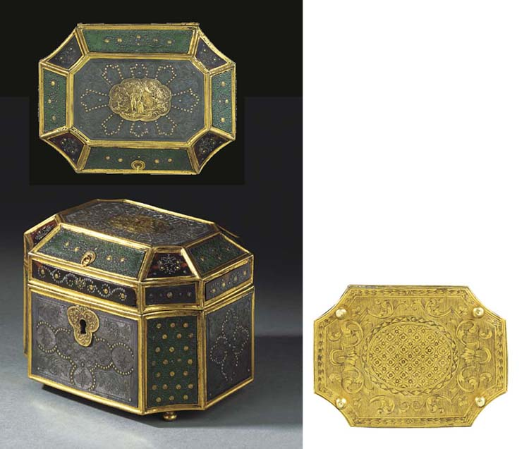 A REGENCE GILT-COPPER-MOUNTED,