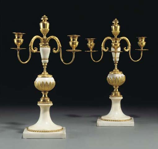 A PAIR OF RUSSIAN ORMOLU AND W