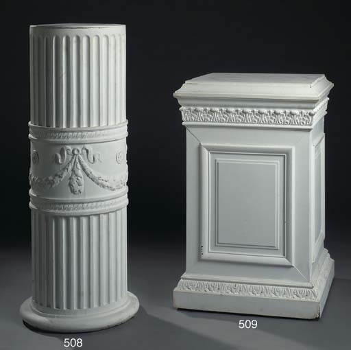A WHITE-PAINTED CYLINDRICAL FL