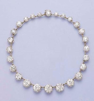 AN IMPORTANT ANTIQUE DIAMOND C