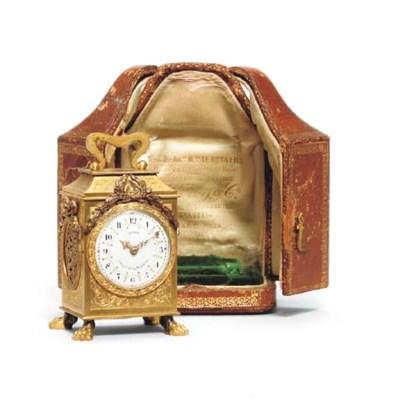 A French gilt-brass miniature