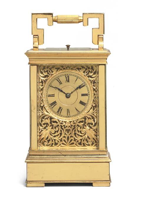 A French gilt-brass Westminste