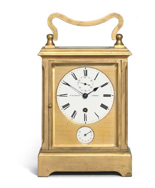 A Victorian gilt-brass giant c