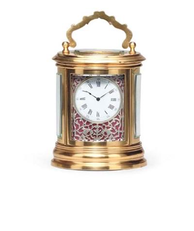 A French gilt-brass oval minia