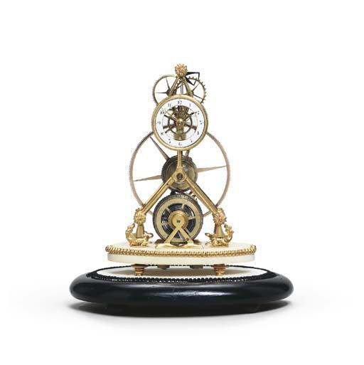 A Victorian skeleton timepiece