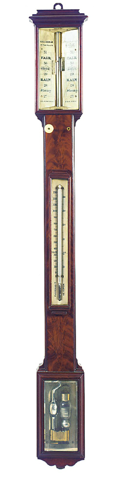 A Victorian mahogany stick bar