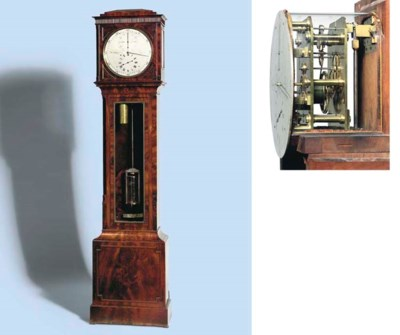 A Regency mahogany longcase re