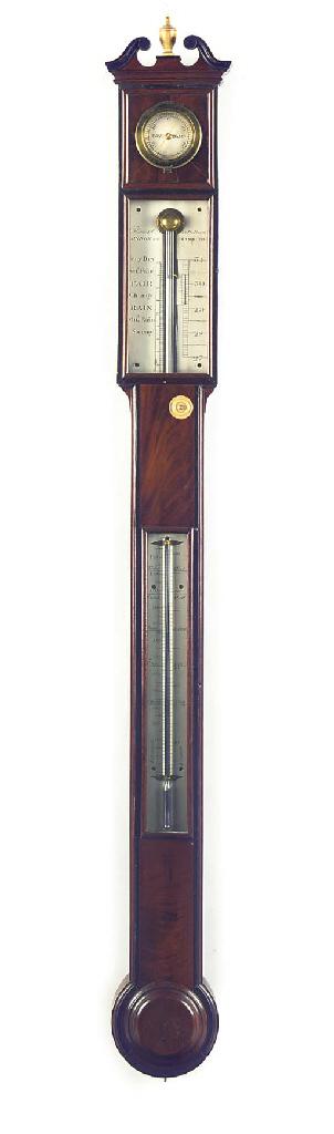 A Regency mahogany stick barom