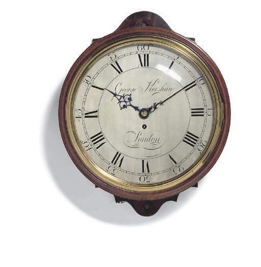 A George III mahogany dial clo