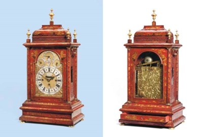 A George I red lacquered quart