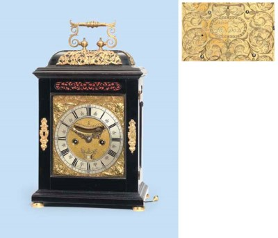 A William III ebony and gilt-m