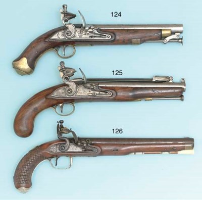 A SILVER-MOUNTED FLINTLOCK OFF
