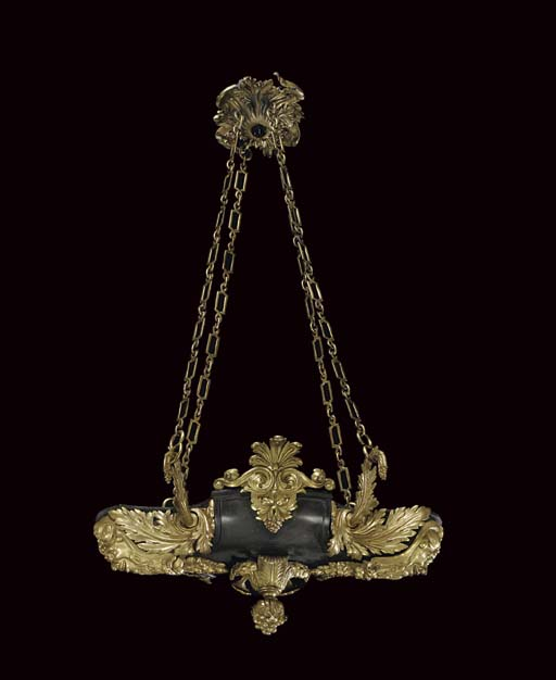 A REGENCY ORMOLU AND BRONZE HA