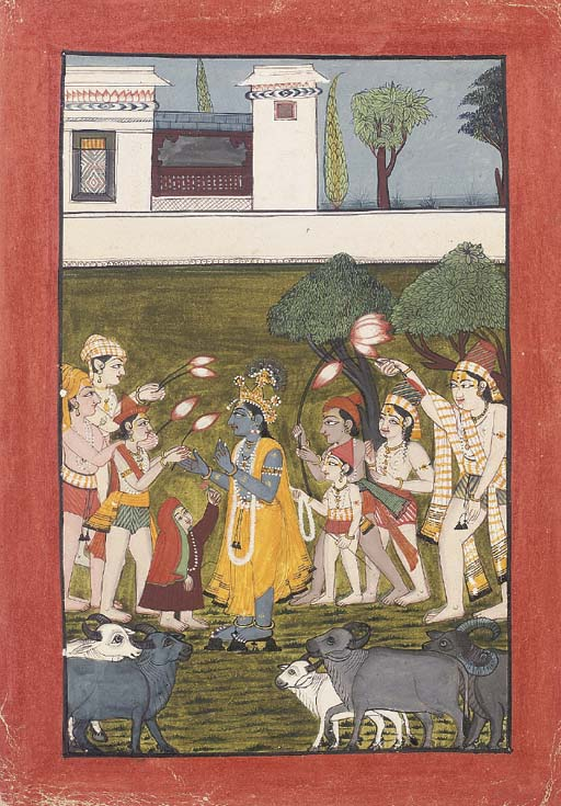 GOPA BOYS OFFERING LOTUSES TO