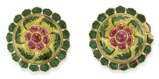 A PAIR OF ATTRACTIVE CABOCHON