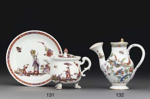 A Meissen cream-pot, cover and
