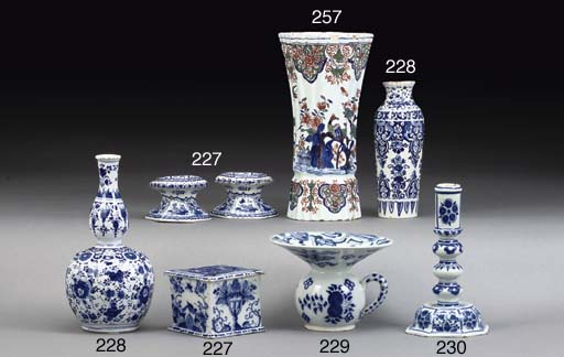 TWO DUTCH DELFT SMALL BLUE AND