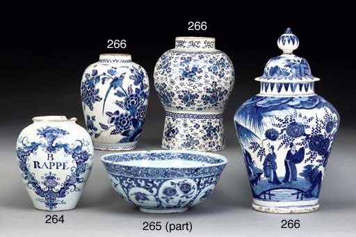 TWO DUTCH DELFT PUNCH-BOWLS