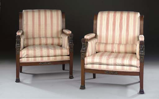 A pair of Empire style parcel-