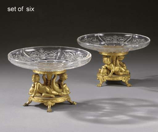 A set of six Napoleon III ormo