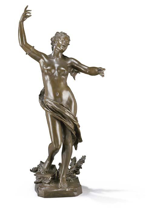 A French bronze figure, entitled 'La Jeunesse'