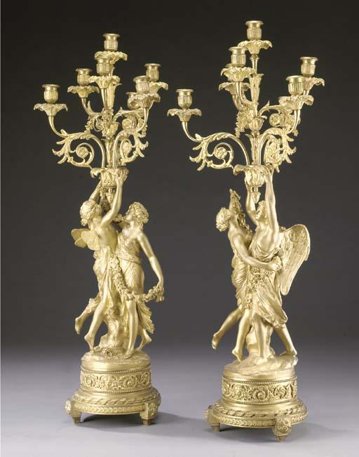 A pair of Napoelon III ormolu