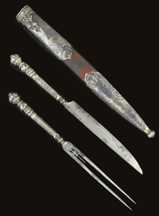 A OTTOMAN TRAVELLING KNIFE AND