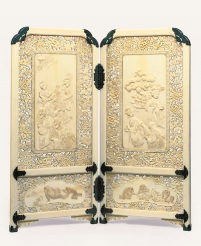 A Two-fold Ivory Screen
