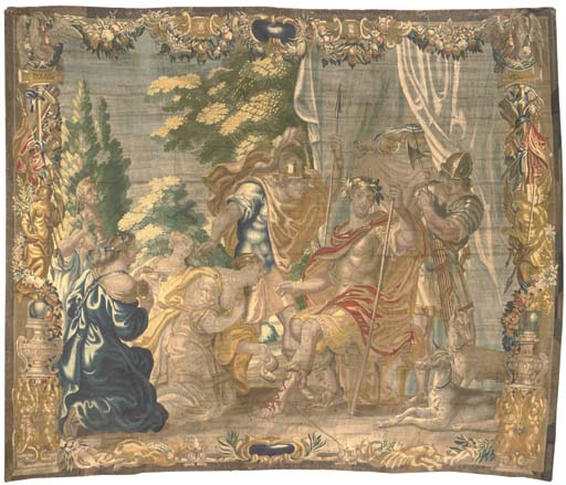 AN ANTWERP HISTORICAL TAPESTRY