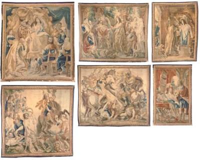 A SET OF SIX BRUSSELS HISTORIC