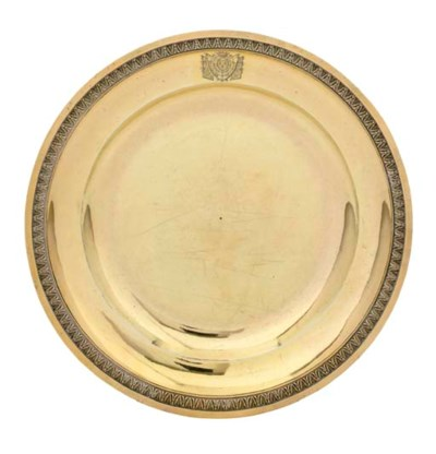 A FRENCH SILVER-GILT PLATE