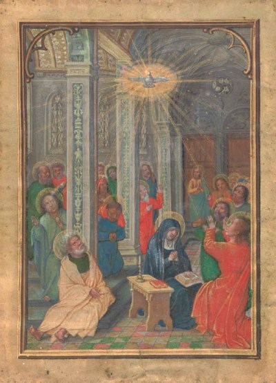 PENTECOST, leaf with a full-pa
