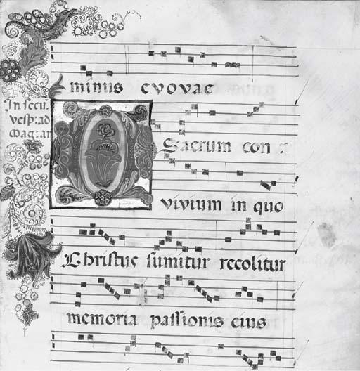 ANTIPHONAL, for Franciscan use, in Latin, ILLUMINATED MANUSCRIPT ON VELLUM.