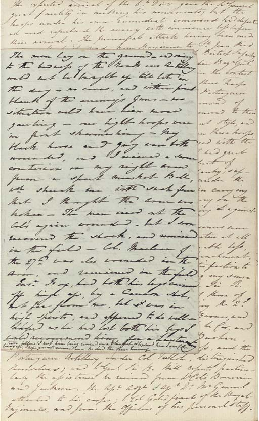 PENINSULAR WAR -- WILSON, Sir James (1780-1847). Autograph manuscript journal of his service in the Peninsula as brevet lieutenant colonel commanding the 48th Foot up to the entry into France and the occupation of Paris, 18 March 1813 - 27 March 1814, on 8vo leaves interleaved with Wilson's autograph manuscript book of General Orders and Dispatches, June 1813 - May 1814 (diary entries for April and May 1814 on spare pages of General Order book), together approximately 136 pages, 8vo, and 111 pages, 4to, red roan (scuffed).
