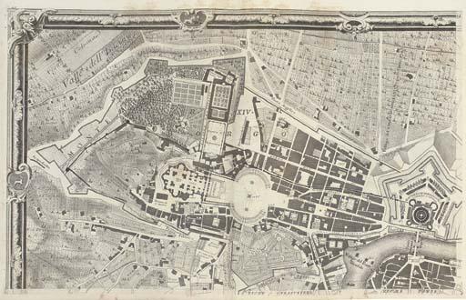 NOLLI, Giovanni Battista (c.1692-1756). Nuova Pianta di Roma data in luce da Giambattista Nolli. Rome: 1748.