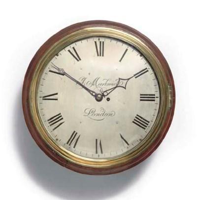 A large mahogany dial clock