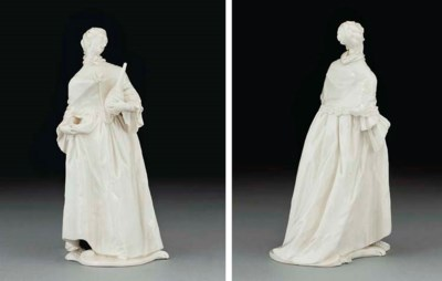 A NYMPHENBURG WHITE FIGURE OF
