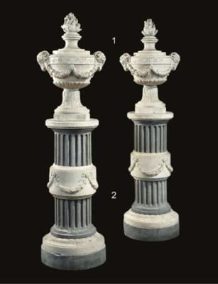 A PAIR OF FRENCH CARVED WHITE