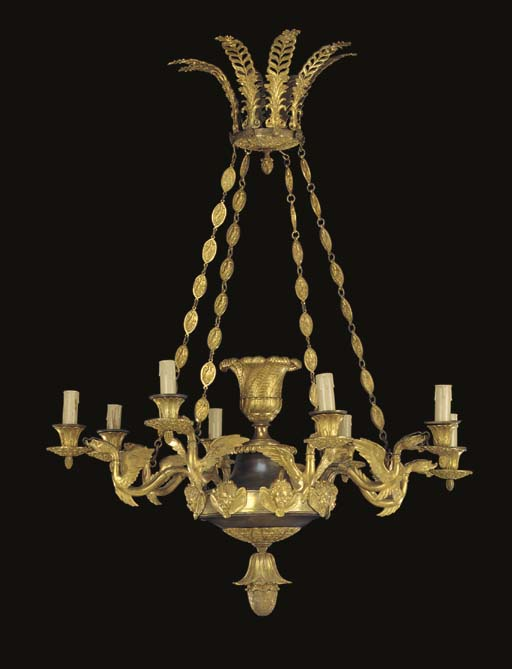 A CHARLES X ORMOLU AND PATINAT