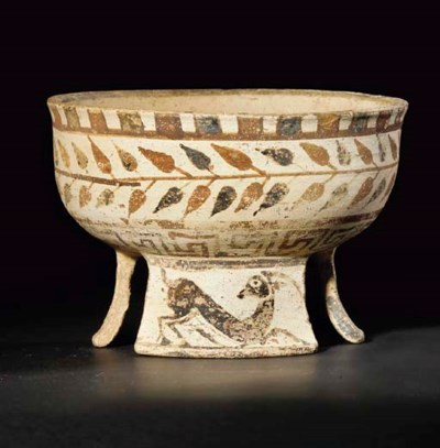 A HELLENISTIC PAINTED POTTERY