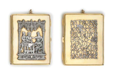 A GEORGE V SILVER AND 9CT GOLD