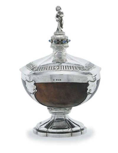 A GEORGE V MOONSTONE AND GARNE