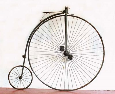 An ordinary bicycle or