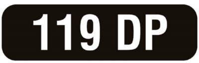 Number Plate : 119 DP